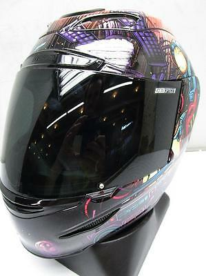 ICON Airmada Space Bass Face Motorcycle Helmet LARGE