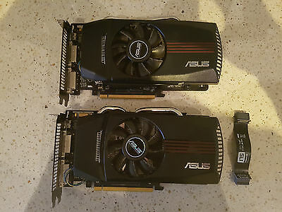 Two ASUS NVIDIA GeForce GTX 560 (1 GB) VRAM PCI Express Video Cards (ENGTX560...