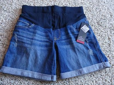 NEW Womens OH BABY by MOTHERHOOD MATERNITY Jean SHORTS  Size S (4-6)   MID-BELLY