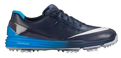 Mens Nike Lunar Control 4 golf shoes Midnight Navy and Photo Blue 819037-400