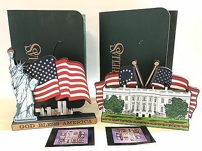 Lot Of 2 Shelia's Collectibles White House And 9/11 Tribute Piece With Boxes