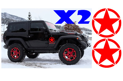 "Jeep US Army military star X2 6"" decal  sticker jk cj yj tj wrangler ANY COLOR"