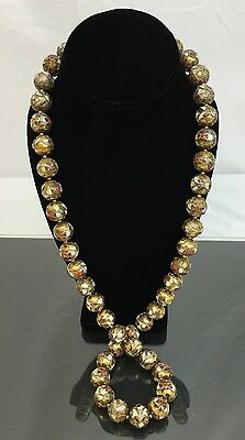 Wonderful Chinese Beaded Cloisonné Necklace With Fine Wiring 162 GRAMS