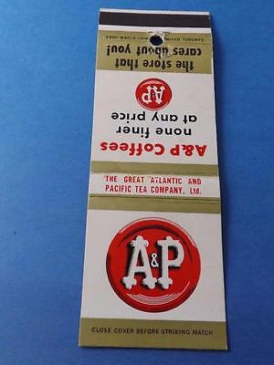 A&p Coffee Grocery Store Matchbook Vintage Advertising