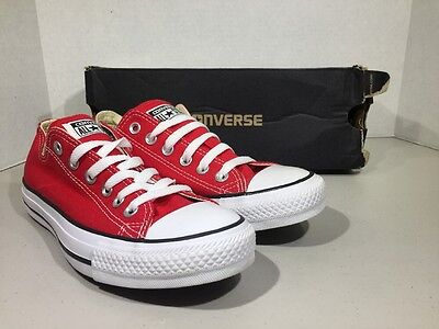 Converse Mens Size 5 / Women's Size 7 All Star OX Red Canvas Sneakers XJ-83