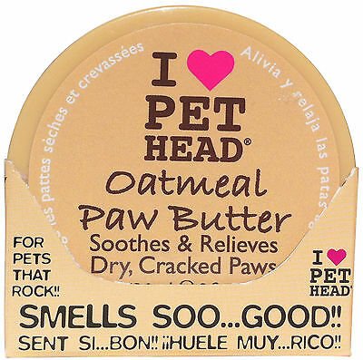 Pet Head Oatmeal Paw Butter Soothes Dry Cracked Paws
