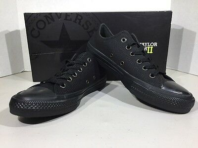 Converse Unisex Men's 6 Women's 8 Ox Black Athletic Sneakers Shoes XJ-34