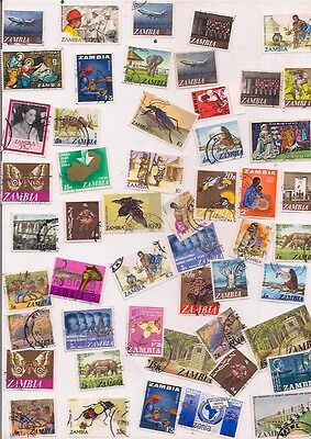 52 ZAMBIA stamps.