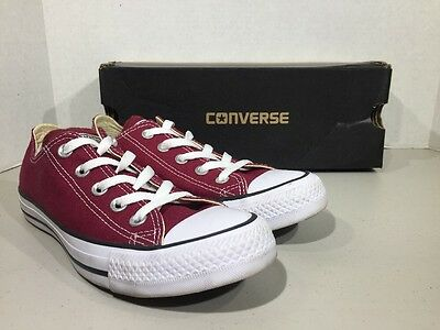 Converse All-Star Men's 4 Women's Size 6 Maroon Low Top Athletic Shoes XJ-113