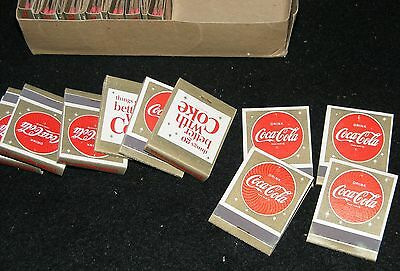 COCA COLA MATCHES BOX of 45 VTG Time Square thing go better with Coke AUTHENTIC