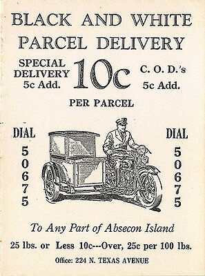 Absecon Island NJ Parcel Delivery Motorcycle Special Delivery Original Blotter