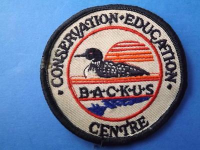 Backus Mill Conservation Education Center Ontario Patch Vintage Loon Collector