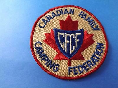 Cfc Canadian Family Camping Federation Patch Vintage Collector Badge Crest