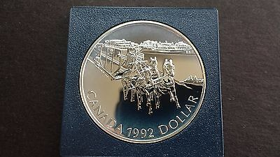1992 Canada Uncirculated Silver Dollar - Kingston To York Stage Coach