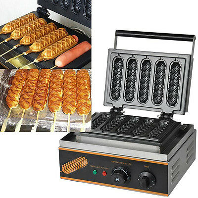 Non-Stick Electric Muffin Hot Dog Lolly Waffle Maker Sausage Baking Machine Oven