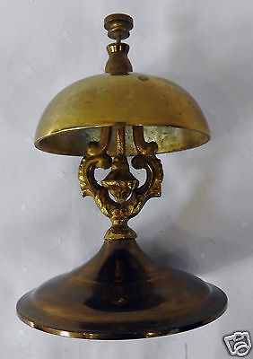 Vintage Hotel Finger Tap Tall Hotel Lobby Counter  Bell