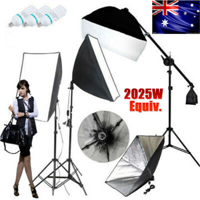 +Photography Softbox Studio LED Dimmable Light Lighting Soft Box Stand Kit+CASE