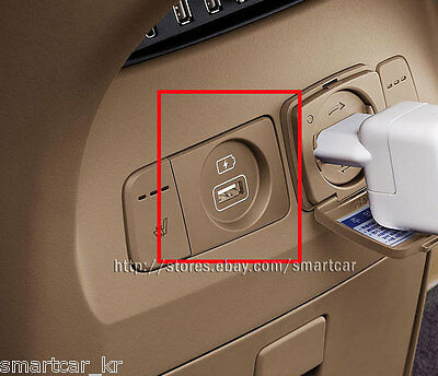 Rear Console USB Charger for 2015 2016 2017 2018 2019 KIA Sedona Carnival BEIGE