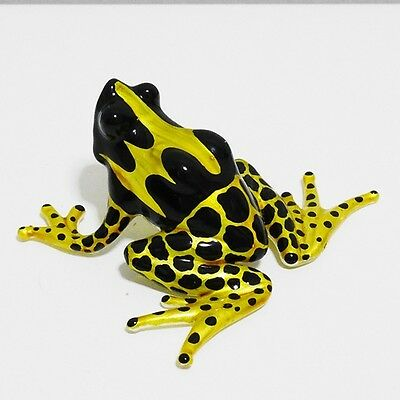 Yellow Poison Dart Frog Figurine Hand Blown Glass Home Decorate Collectible Gift