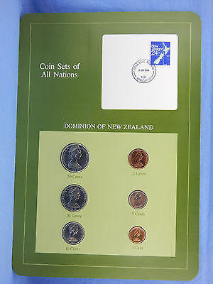 1982-83 coin set DOMINION OF NEW ZEALAND all nations FRANKLIN MINT packaging