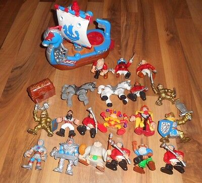 Fisher Price Great Adventures Imaginext Vintage Pirate Ship Castle Knights Kings