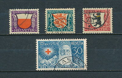 Switzerland B45-8 used, Coats of Arms, 1928