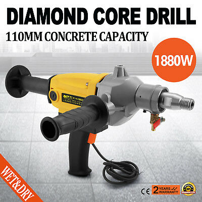 New Vevor 110mm Diamond Core Drill Concrete Hand-Held Machine Wet Drilling 240V