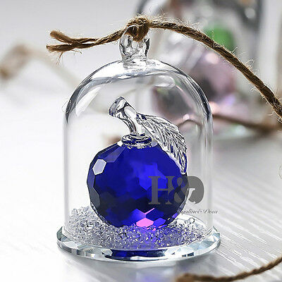 New Crystal Cut Glass Fruit Figurines Apple Collectibles Wedding Gift Ornaments