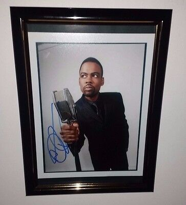 Hand Signed By Chris Rock With Coa Rare Autographed Promo Photo Card 8X10