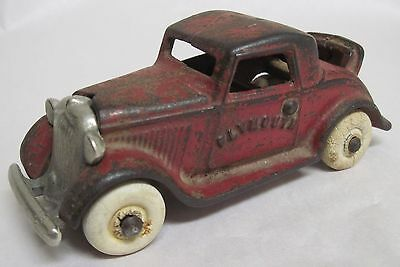Vintage 1930's Cast Iron ARCADE PLYMOUTH Coupe--Rumble Seat--Nickel Plated Grill