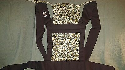Mei Tai baby carrier Kid Rest - Brown Leafy  Pattern, Reversible, Brand New💜💙