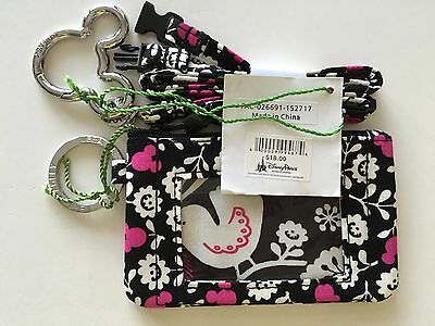 Vera Bradley Zip Id Case and Breakaway Lanyard in Disney Mickey Mouse Meets Bird