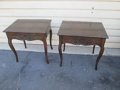 57679  Pair French Country Nightstand Lamp table Stand s