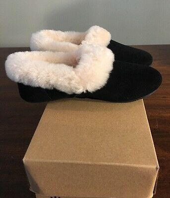 UGG WOMEN'S KENDYL BLACK SUEDE SLIPPER SHOE SIZE 11 1011725 NEW With BOX