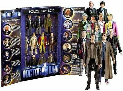 Dr. Who The 11 Doctors 5 inch Action Figure Collector Set: in TARDIS  box MINT
