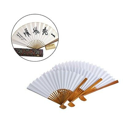 Chinese Paper Fans Bamboo Fan Folding Hand Held Calligraphy Art Summer Gift New