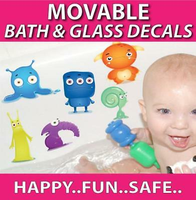 Monster Movable Bath Stickers