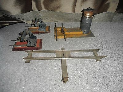 rare BING Allemagne  1905  SONNERIE + 2 HEURTOIRS + 1 RAIL D'ARRET  TRAIN O