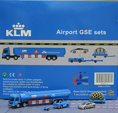 KLM GSE set JC 1:200 Airport Scenic Series Ground Services Equipment      XX2025