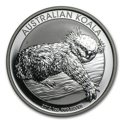1 oz 2012  THE AUSTRALIAN KOALA SILVER PERTH MINT COIN .999 $1 DOLLAR