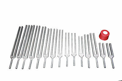 15 Tuning Forks- 7 chakras + 8 Harmonics w Activator & pouch