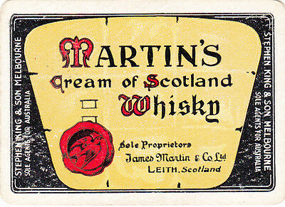 1 Wide Playing Swap Card Australian Brewery Martins Cream Of Scotland Whisky