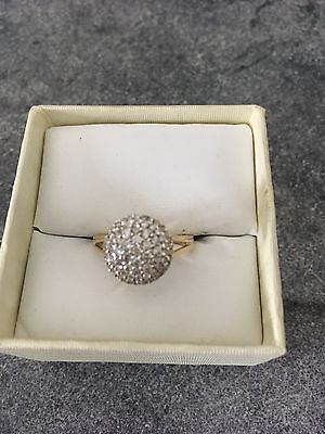 9ct Gold 0.50ct Diamond Cluster Ring From Prouds Size K