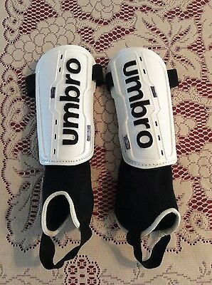 Umbro football shin pads with ankle guard