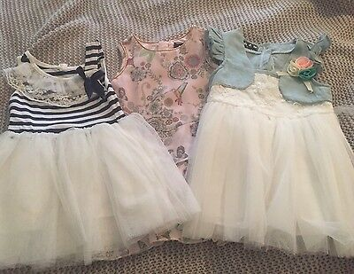 Size 1 Girls Dresses Very Good Condition