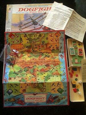 DOGFIGHT WW1 Board Game-JOHN SANDS-MILTON BRADLEY VINTAGE 1964 RARE