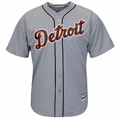MLB Baseball Trikot DETROIT TIGERS grau Road Cool base Majestic Jersey