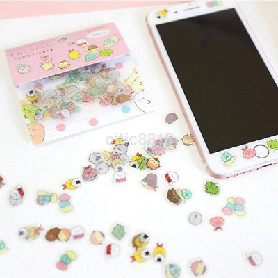 80x Japanese Sumikko Gurashi Stickers Flakes Bag Sack Animal DIY Scrapbooking AU