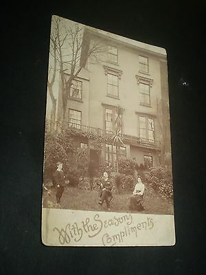 social history edwardian house douglas isle of man 1906 rp photo postcard