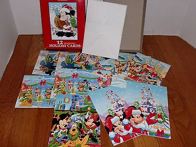 Disney Mickey Mouse Greeting Cards Holiday Christmas Cards Vintage Mickey's Stuf
